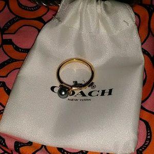 Coach Blue Pearl Ring
